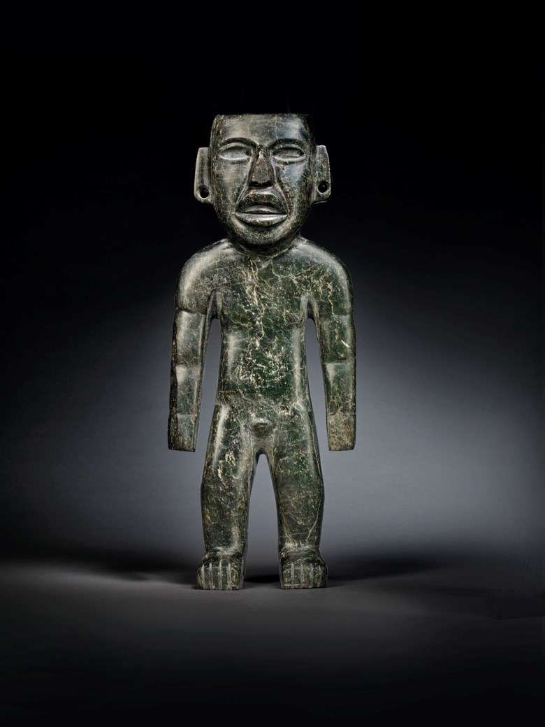 An important Teotihuacan statue, Pre-Classic, circa 300 BC-300 AD. Height 16⅞ in (42.9 cm). Estimate €250,000-450,000. Offered in Pre-Columbian Art on 2 June 2020 at Christie's in Paris