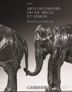 Arts Décoratifs du 20ème Siècl auction at Christies