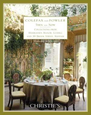Colefax and Fowler, Then and N auction at Christies