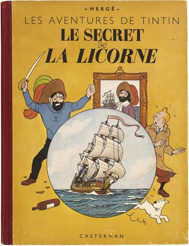 Hergé. The Adventures of Tintin The Secret of the Unicorn, published Casterman October 1943. Original edition in colour 4thplate, A20, white. This work was offered in Bande Dessinée on 21 May 2016 at Christie's in Paris and sold for €1,875