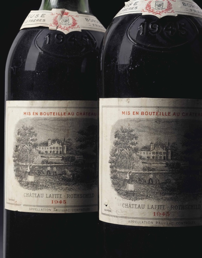 Château Lafite-Rothschild 1945. 8 bottles per lot. This lot was offered in Fine Wines and Spirits Featuring Rarities Direct from the Cellars of Champagne Henriot on 10 June 2016 at Christie's in New York and sold for $11,638