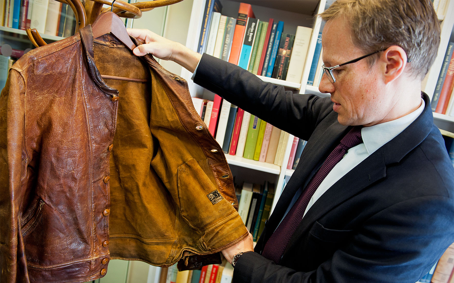 Thomas Venning 5 minutes with Einstein's leather jacket