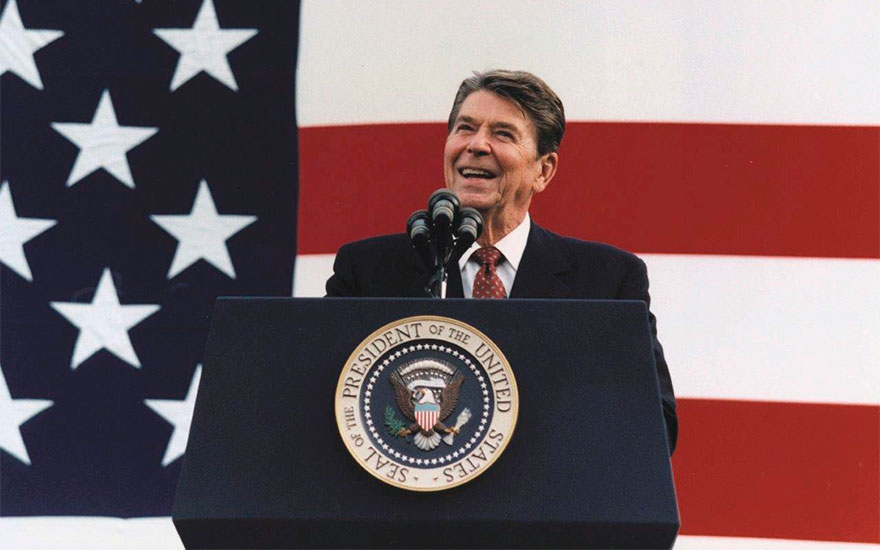 President at a Rally for Senator Durenberger in Minneapolis, Minnesota, 2882. Courtesy Ronald Reagan Library