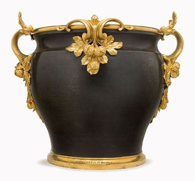 Kirill selects A French ormolu and patinated bronze jardinière. By Christofle & Cie., Paris, last quarter. 20¾ in (52.7 cm) high, 21 in (53.3 cm) wide. This lot was offered in Opulence on 10 October 2016 at Christie's in New York and sold for $10,625