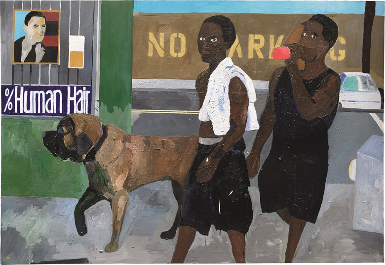 Henry Taylor (b. 1958), Walking with Vito. Acrylic on canvas, 66⅛ x 96 in (168 x 244.5 cm). Estimate £40,000-60,000. This lot is offered in Post-War & Contemporary Art Evening Auction on 6 October 2016 at Christie's in London, King Street