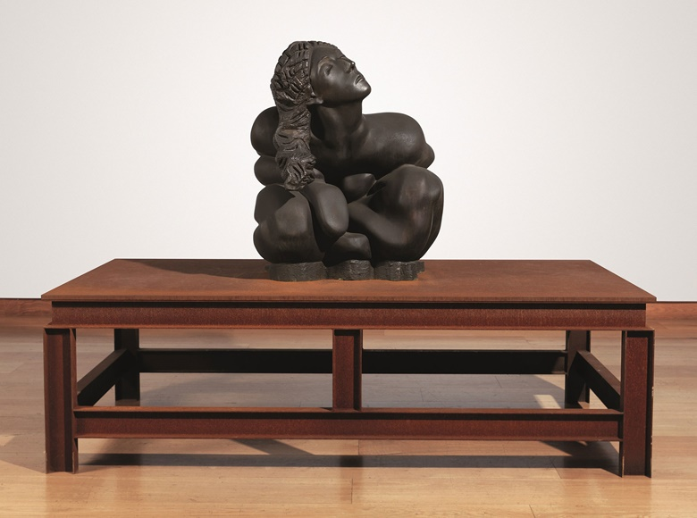 Thomas Schütte (b. 1954), Bronzefrau Nr. 13. Bronze figure on steel table, 70⅞ x 98⅜ x 49¼ in (180 x 250 x 125 cm). Estimate £1,200,000-1,800,000. This lot is offered in Post-War & Contemporary Art Evening Auction on 6 October 2016 at Christie's in London, King Street