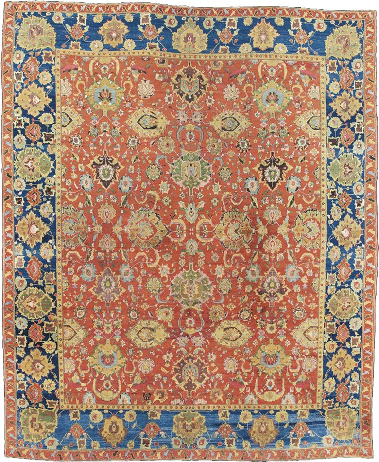 An Agra carpet. North India, mid-19th century. 13 ft 10 in x 11 ft 10 in (420 cm x 360 cm). This lot was offered in Oriental Rugs and Carpets on 18 October 2016 at Christie's in London, King Street and sold for £112,500