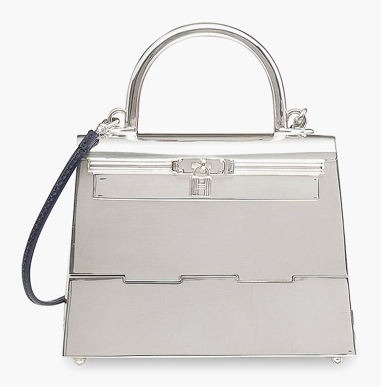 A rare, sterling-silver micro mini Kelly. Hermès, 1990s. Sold for HK$475,000 on 2 December 2015