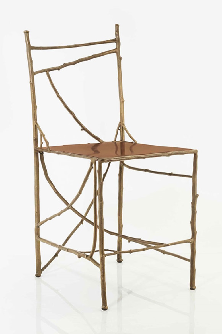 Claude Lalanne (b. 1925), Chaise aux Branchettes, model created 1995, this version realised in 1998. 79.8 cm (31⅜ in). Estimate €20,000-25,000. This lot is offered in Design Vente du Soir on 22 November 2016 at Christie's in Paris