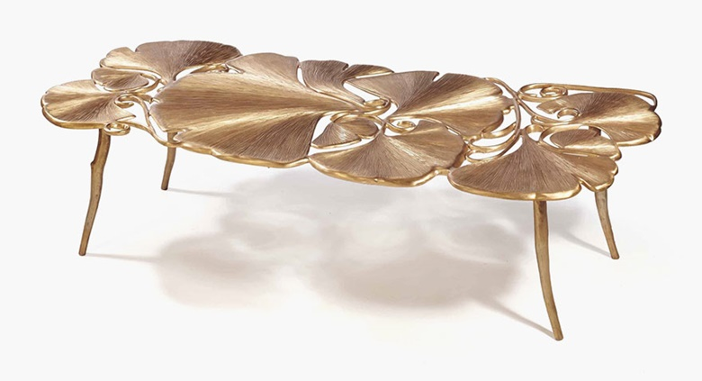 Claude Lalanne (b. 1925), Table Basse Gingko, Grand modèle, 2011. 42 x 160 x 68 cm (16½ x 63 x 26¾ in). Estimate €120,000-150,000. This lot is offered in Design Vente du Soir on 22 November 2016 at Christie's in Paris