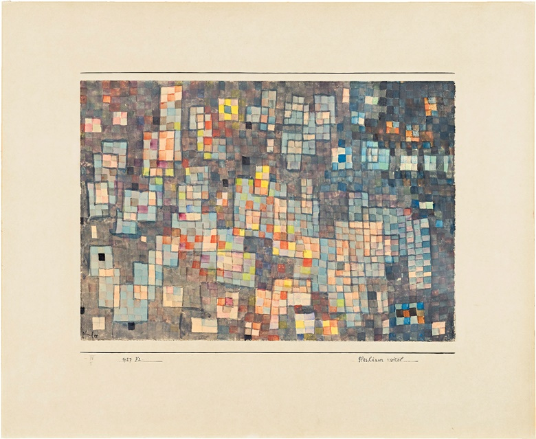 Paul Klee (1879-1940). Glashäuser Viertel, 1927. Watercolour on paper laid down on card, sheet size 10 x 14½ in (25.5 x 36.7 cm), mount size 16¾ x 20⅝ in (42.7 x 52.5 cm). Sold for $269,000 on 13 November 2015