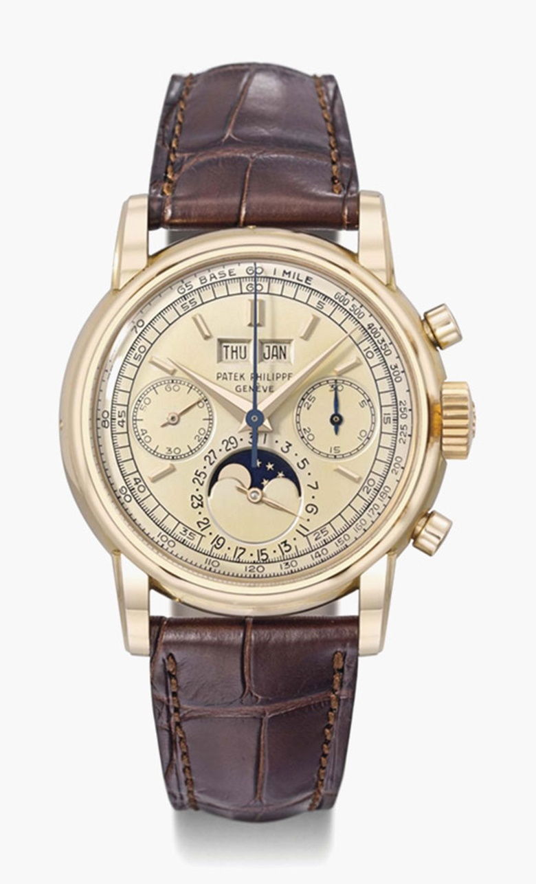 Patek Philippe. An exceptionally fine, rare and important 18K pink gold perpetual calendar chronograph wristwatch with moon phases. Signed Patek Philippe, Genève, ref. 2499, movement no. 868226, case no. 696524, movement manufactured in 1951, watch encased in 1957. Sold for CHF 1,985,000 on 11 November 2013