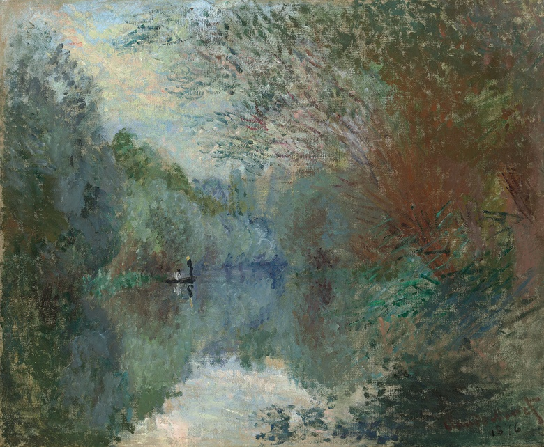 Claude Monet (1840-1926), Saules au Bord de l'Yerres, 1876. Oil on canvas. 21⅜ x 25⅞ in (54.4 x 65.7 cm). This work was offered in the Impressionist & Modern Art Evening Sale on 28 February at Christie's London and sold for £3,077,000