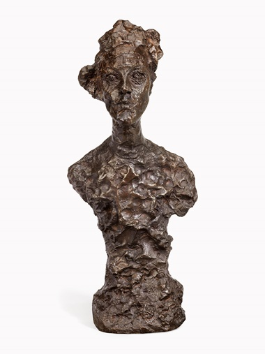 Alberto Giacometti (1901-1966), Buste dAnnette VI, conceived in 1962 and cast in 1964. bronze with brown patina, Height 23⅝ in (59.5 cm). Estimate $1,500,000-2,500,000. This lot is offered in Impressionist & Modern Art Evening Sale on 15 May 2017, at Christie's in New York