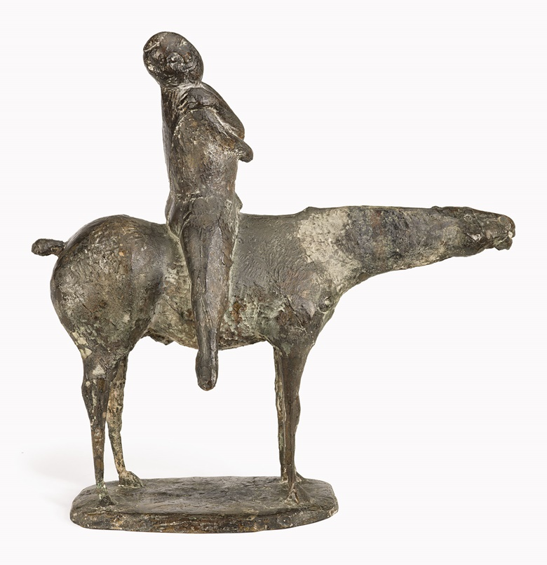 Marino Marini (1901-1980), Piccolo cavaliere, 1948. Bronze with brown and gray patina, Height 22⅞ in (58.2 cm). Estimate $1,500,000-2,500,000. This lot is offered in Impressionist & Modern Art Evening Sale on 15 May 2017, at Christie's in New York