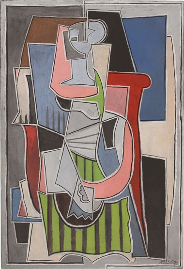 Pablo Picasso (1881-1973), Femme assise dans un fauteuil, 1917-1920. Oil on canvas, 51 ¼ x 35 in (130.2 x 88.9 cm). Estimate $20,000,000-30,000,000. This lot is offered in Impressionist & Modern Art Evening Sale on 15 May 2017, at Christie's in New York