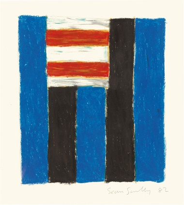 Sean Scully (b. 1945), Untitled, 1982. Pastel and graphite on paper. 11 x 14 in (27.9 x 35.5 cm). Estimate $15,000­–25,000. This work is offered in on paper  online, 23 February–7 March. Property from the Collection of Ruth and Jerome Siegel