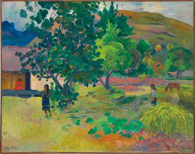 Paul Gauguin (1848-1903), Te Fare (La maison), 1892. Oil on canvas, 28¾ x 36⅙ in (72.6 x 91.8 cm). Sold for £20,325,000 in the Impressionist & Modern Art Evening Sale on 28 February 2017 at Christie's London