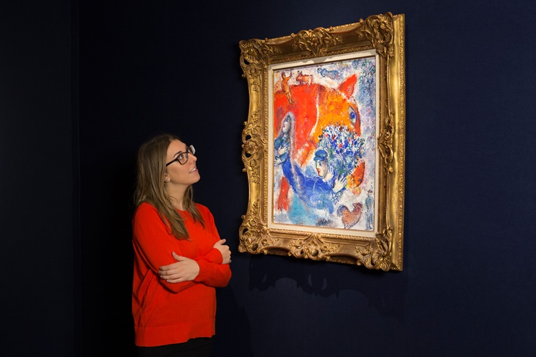 Marc Chagall (1887-1985), Tête de cheval, 1964. Oil on canvas, 25⅝ x 21¼ in (65 x 54 cm). This work was offered in the Impressionist & Modern Art Evening Sale on 28 February 2017 at Christie's London and sold for £869,000