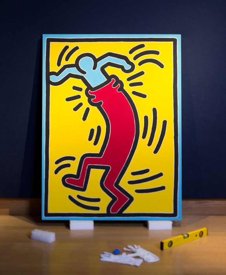 Keith Haring (1958-1990), Untitled, 1988. Acrylic on canvas, 48 x 36 in (122 x 91.5 cm). Estimate £300,000-500,000. This work is offered in the Post War & Contemporary Art Evening Auction on 7 March 2017 at Christie's in London