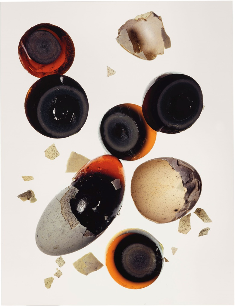 Irving Penn (1917–2009), 1,000-Year-Old Eggs (A), New York, 2003. Signed, titled, dated and numbered 21578 in ink and stamped photographer'sCondé Nast copyright credit and edition (flush mount, verso). Imagesheetflush mount 30 x 23 in (76.2 x 58.4 cm). Estimate $20,000-30,000. This lot is offered in Photographs Including Property Sold to Benefit the Elton John AIDS Foundation on