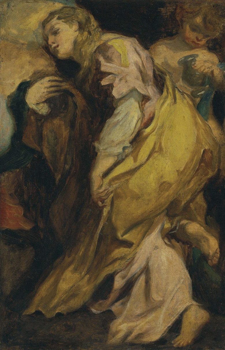 Sir Anthony van Dyck (Antwerp 1599-1641 London), Saint Mary Magdalene. Oil on canvas, 21½ x 13⅞ in (54.6 x 35.3 cm). Estimate $150,000-250,000. This lot is offered in Old Masters on 27 April 2017, at Christie's in New York