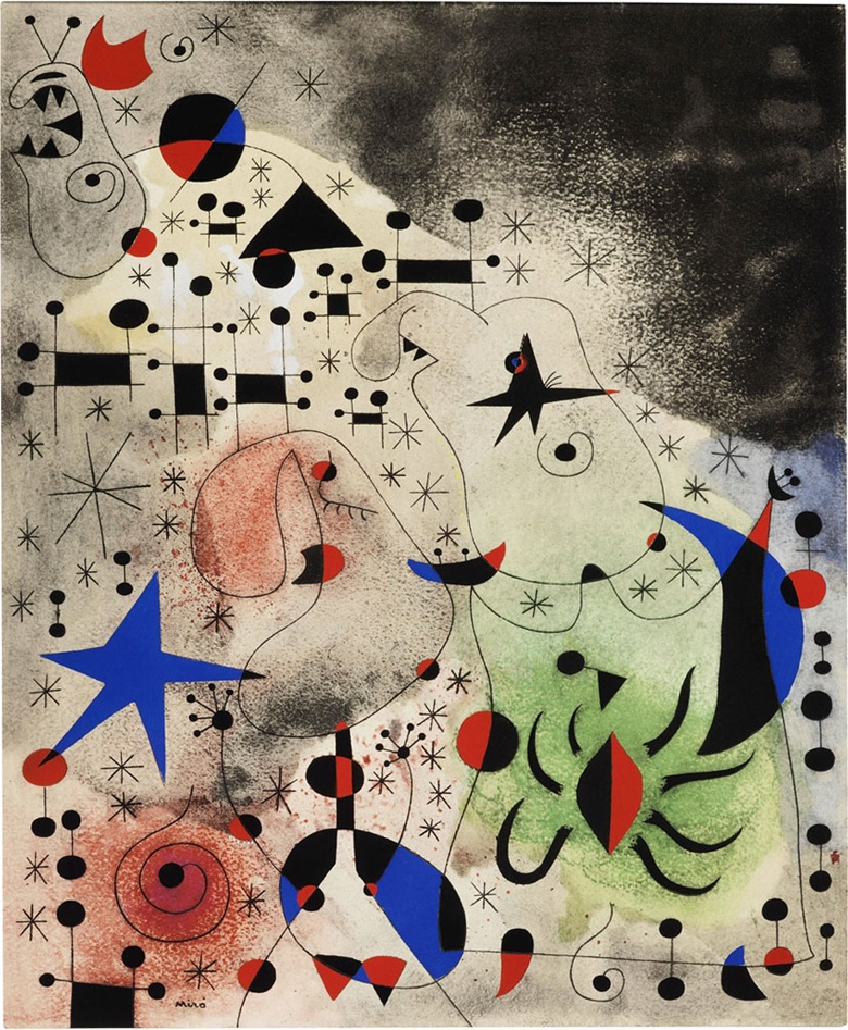 Joan Miró (1893-1983). Constellations one plate, 1959. Sheet 17 x 14 in (432 x 356 mm). Estimate $2,000-3,000. This lot is offered in Modern Editions, 9-18 May 2017, Online
