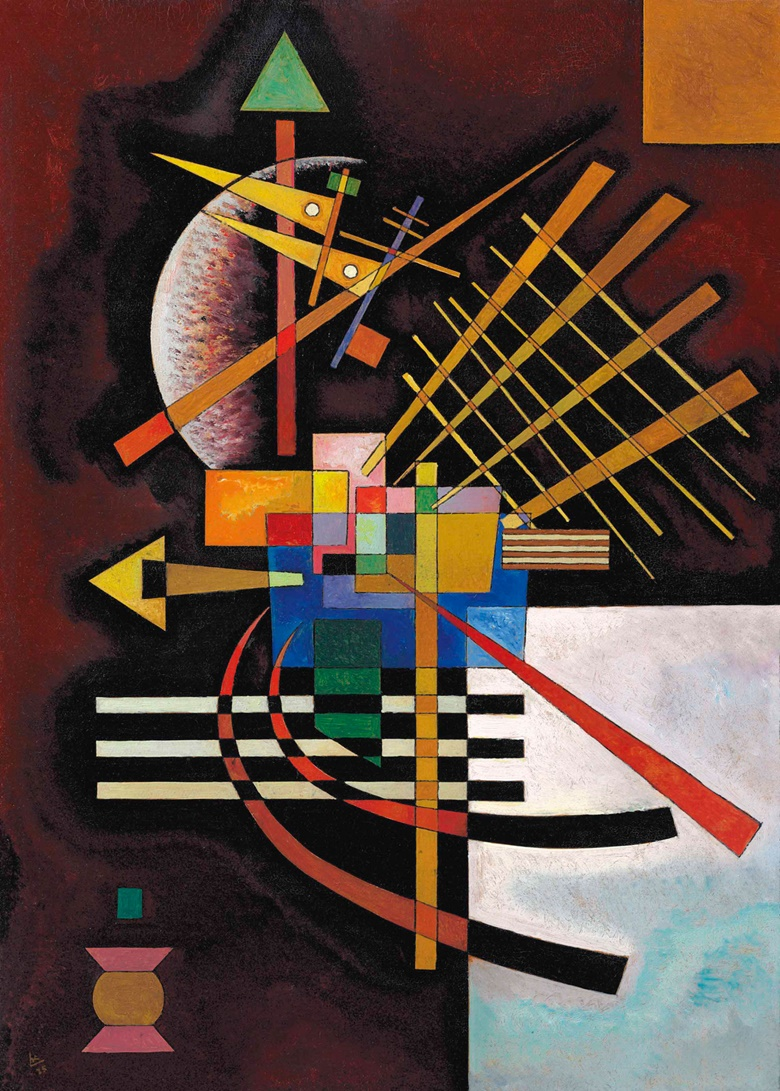 Wassily Kandinsky (1866-1944), Oben und links, 1925. Sold for $8,311,500 in the Impressionist & Modern Art Evening Sale on 15 May 2017 at Christie's in New York