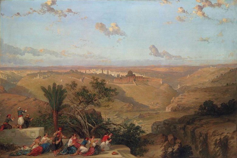 David Roberts, R.A. (1796-1864), Jerusalem, from the South, 1860. Oil on canvas. 48½ x 72¼ in (123.2 x 183.5 cm). Sold for £962,500 on 30 June 2016 at Christie's in London