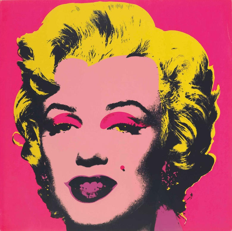Andy Warhol (1928-1987), Marilyn one plate, 1967. Screenprint in colours, on wove paper, signed in pencil on the reverse, stamp-numbered 87250 (there were also 26 artists proofs), published by Factory Additions, New York, the full sheet, creasing in places at the sheet edges (with associated minor ink loss), otherwise in good condition, framed. Sheet 36 x 36 in (914 x 914 mm). Sold for $187,500 on