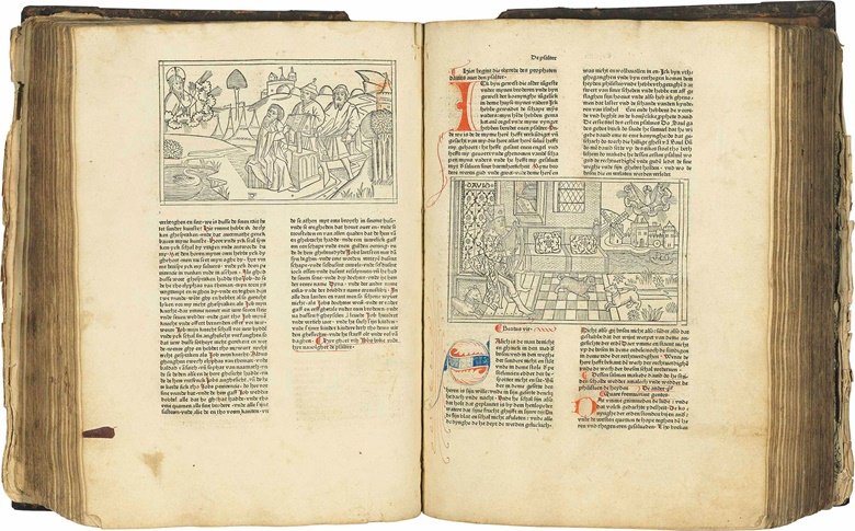 First edition of the Bible in Low German, and the first appearance in print of the celebrated large-scale woodcuts attributed to the Master of the Cologne Bibles. Sold on 12 July 2017 for £239,000 at Christie's in London.