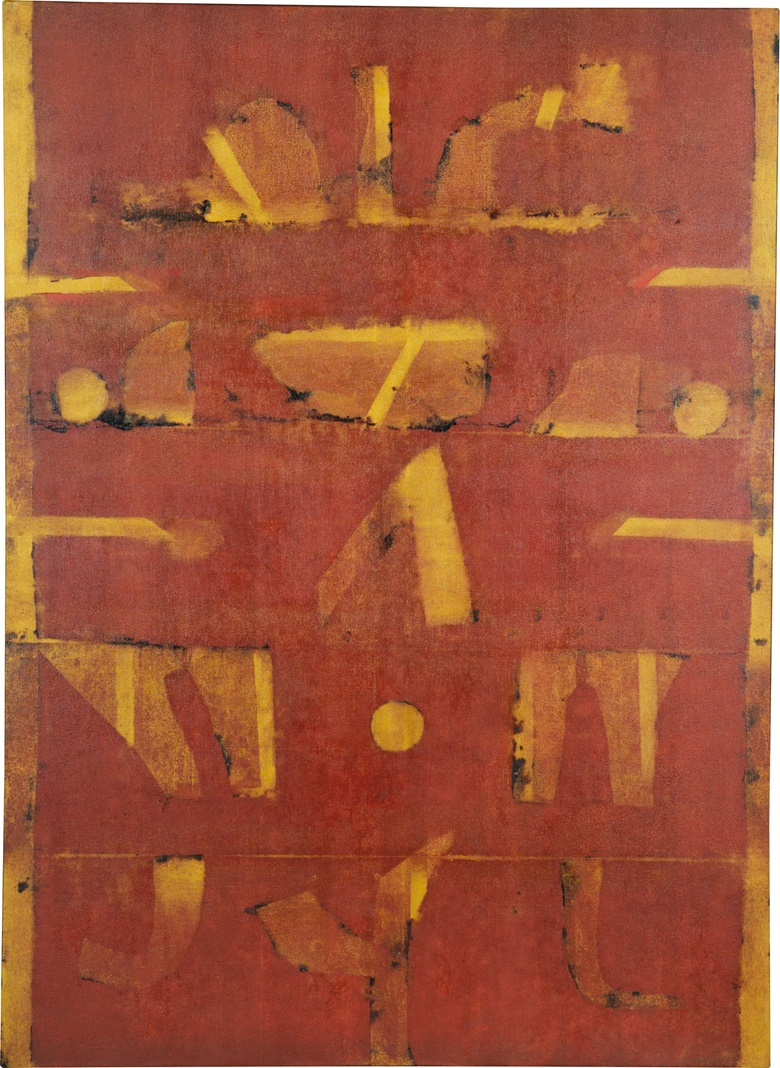 Vasudeo S. Gaitonde (1924-2001), Untitled, 1996. Oil on canvas, 55 x 40 in (139.7 x 101.6 cm). Sold for $4,092,500 on 13 September 2017 at Christie's in New York