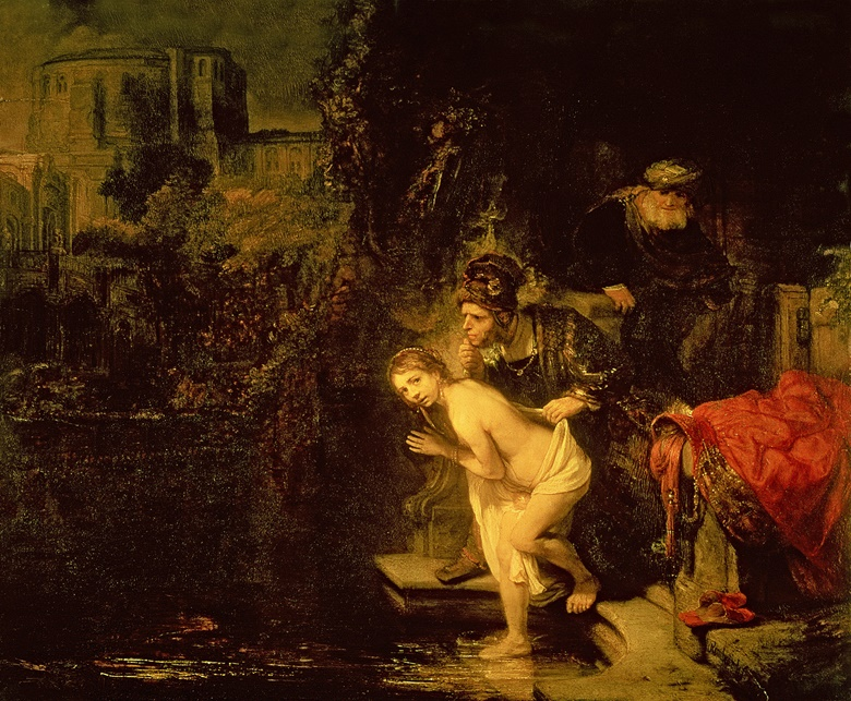 Rembrandt van Rijn (1606-1669), Susanna and the Elders, 1647. Oil on panel. 76.5 x 92.5 cm (30 x 36½ in). Sold for 156 guineas on 13-17 March 1795 at Christies London. © Gemaldegalerie, Staatliche Museen zu Berlin, GermanyBridgeman Images