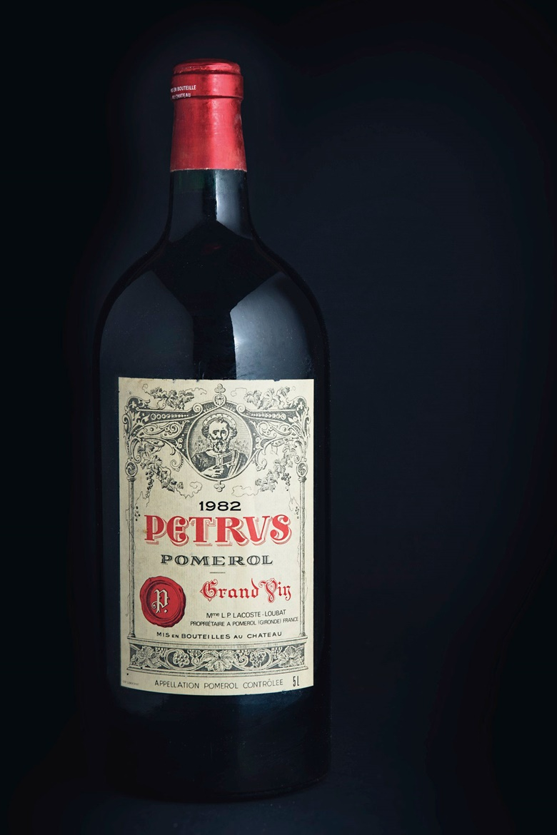 Petrus 1982. One 5-litre, in original wooden case. Estimate £20,000-25,000. This lot is offered in the Fine and Rare Wines Including Wines from the Grandi Cru d'Italia Estates sale on 15 March at Christies in London