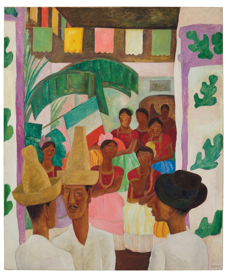 Diego Rivera (1886-1957), The Rivals, painted in 1931. 60 x 50  in (152.4 x 127  cm). Estimate $5,000,000-7,000,000. This lot is offered in The Collection of David and Peggy Rockefeller Art of the Americas, Evening Sale on 9 May at Christie's in New York © Banco de México Diego Rivera Frida Kahlo Museums Trust, Mexico, D.F.  DACS 2018