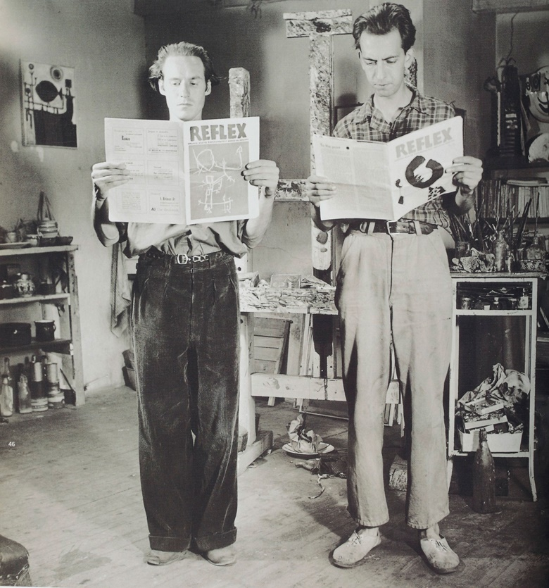 Corneille (left) and Constant in Corneille's studio, 1949. Photo © Nico Koster
