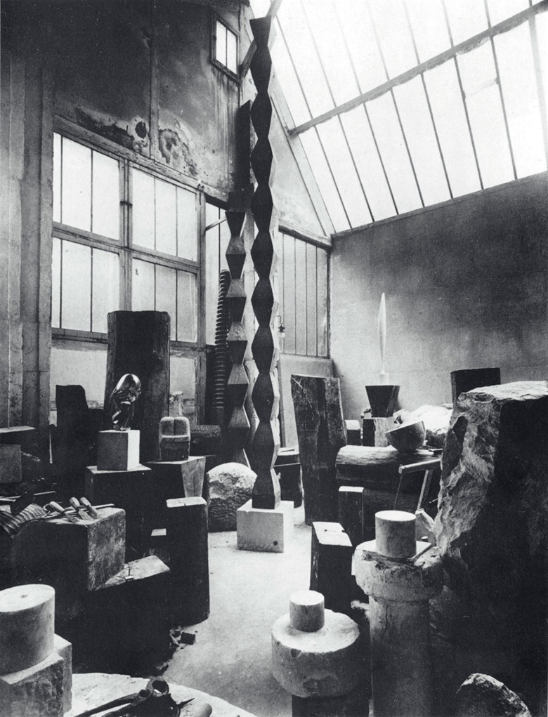 Brancusi's studio. Photograph by Constantin Brancusi. © Succession Brancusi - All rights reserved. ADAGP, Paris and DACS, London 2018