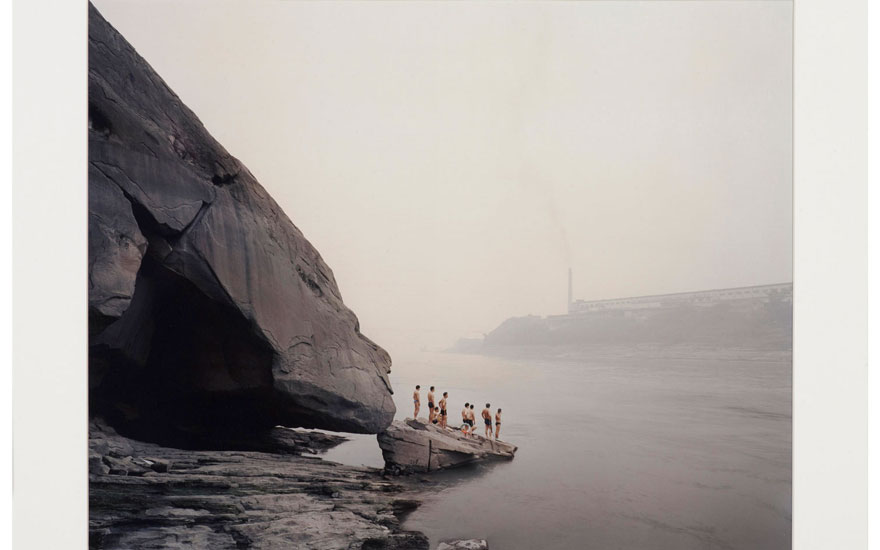 Nadav Kander (b. 1961), Yibin I (Bathers), Province Sichuan, 2007. Sheet 19⅞ x 24 in (50.4 x 61 cm). Estimate                    £700-1,000. Offered in Edition Gerd Hatje Contemporary