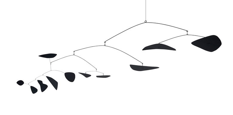 Alexander Calder (1898-1976), Untitled, 1949. Hanging mobile, sheet metal, wire, rod and paint. 53¾ x 147½ x 94 in. Offered in the Post-War and Contemporary Art Evening Sale in November 2018 at Christies in New York