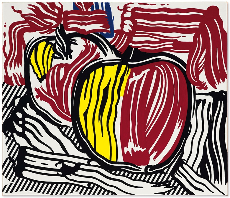 Roy Lichtenstein (1923-1977), Two Red and Yellow Apples, 1981. Acrylic on canvas. 24⅛ x 28⅛ in. Offered in the Post-War and Contemporary Art Evening Sale in November 2018 at Christies in New York