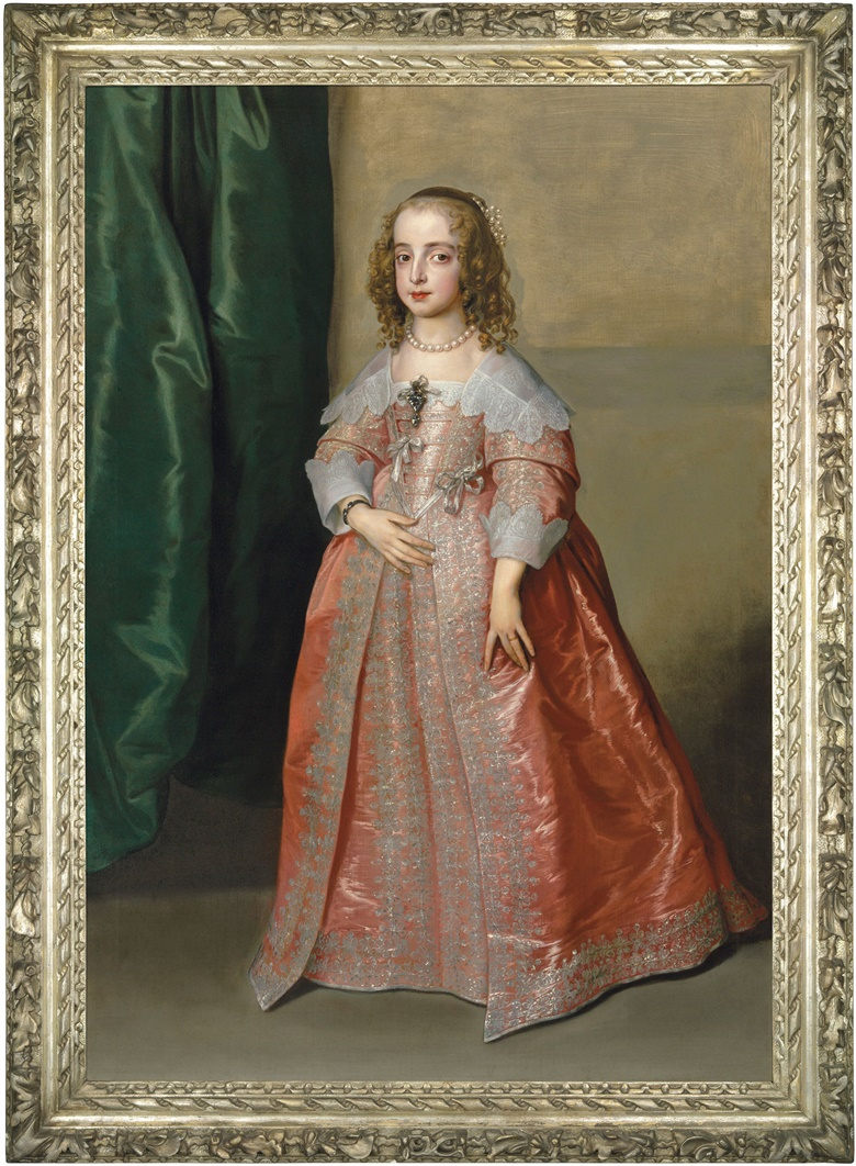 Anthony van Dyck (1599-1641), Portrait of Princess Mary (1631–1660), daughter of King Charles I of England, full-length, in a pink dress decorated with silver embroidery and ribbons, 1641. Oil on canvas. Estimate £5,000,000-8,000,000. Offered in the Old Master Evening Sale on 6 December 2018 at Christie's in London