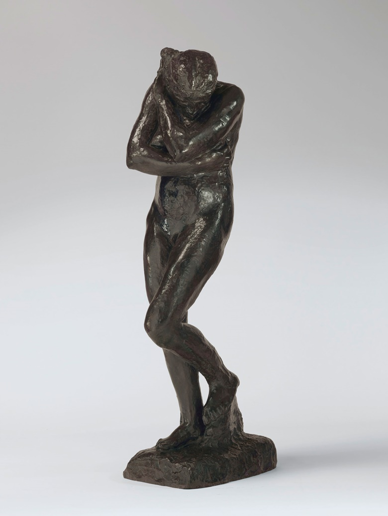 Auguste Rodin (1840-1917), Eve, Grande modèle-version sans rocher à la base carrée, conceived in 1881 and cast between 1925 and 1935. Bronze with brown and green patina. 67¾ in (172 cm) high. Estimate $5,000,000-8,000,000. Offered in the Impressionist & Modern Art Evening Sale on 11 November at Christie's in New York