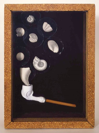 Joseph Cornell (1903-1972), Object, executed in 1940. Box construction — wood, glass and clay pipe. 11¼ x 8½ x 2⅝ in (28.4 x 21.6 x 6.7 cm). Offered in the Post-War and Contemporary Art Evening Sale on 15 November at Christie's in New York © 2018 The Joseph and Robert Cornell Memorial Foundation  Licensed by VAGA at Artists Rights Society (ARS), NY