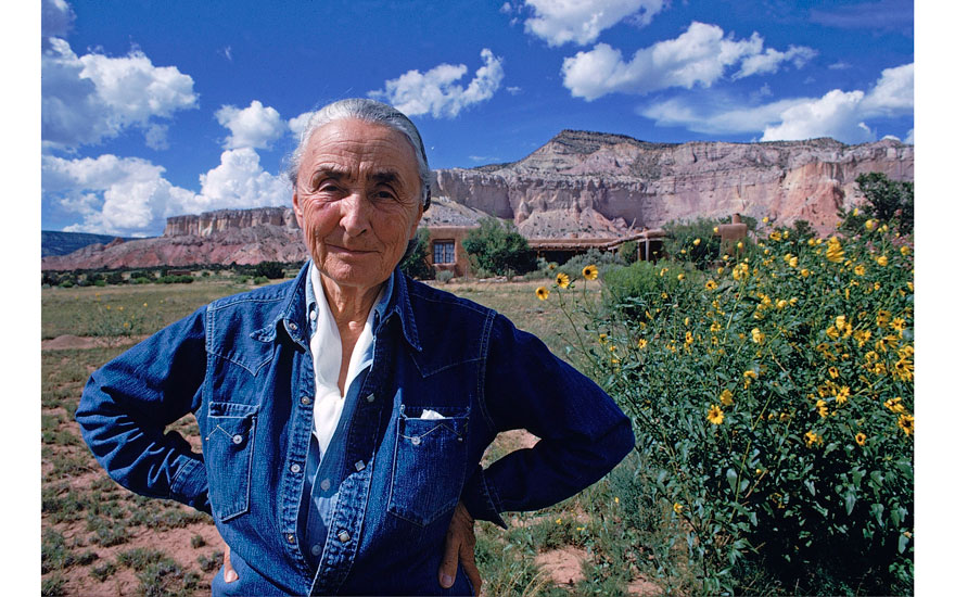 Georgia OKeeffe poses for a portrait August 2, 1968 at Ghost Ranch in New Mexico. Photo © Arnold NewmanGetty Images