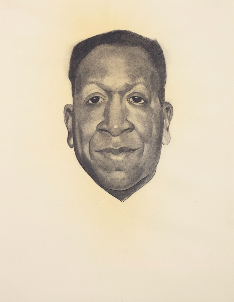 Georgia OKeeffe (1887-1986), Beauford Delaney, executed in 1943. Charcoal on paper. 24¾ x 18½ in (62.9 x 47 cm). Estimate $200,000-300,000. Offered in An American Place The Barney A. Ebsworth Collection Evening Sale on 13 November at Christie's in New York © 2018 Georgia OKeeffe Museum  Artists Rights Society (ARS), New York