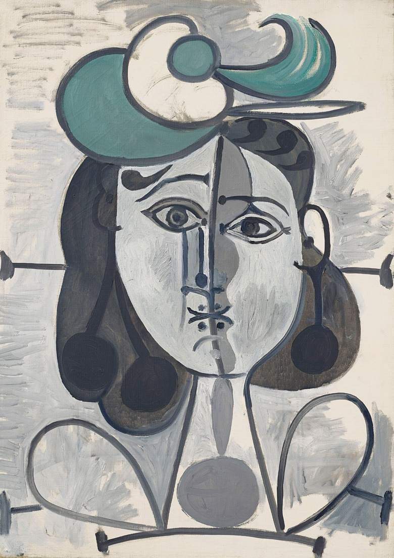 Pablo Picasso (1881-1973), Portrait de Françoise Gilot, 2 May 1947-26 December 1948. Oil on canvas. 25⅝ x 18⅛ in (65 x 45.9 cm). Estimate $3,000,000-5,000,000. Offered in the Impressionist and Modern Art Evening Sale on 11 November at Christie's in New York © 2018 Estate of Pablo Picasso  Artists Rights Society (ARS), New York