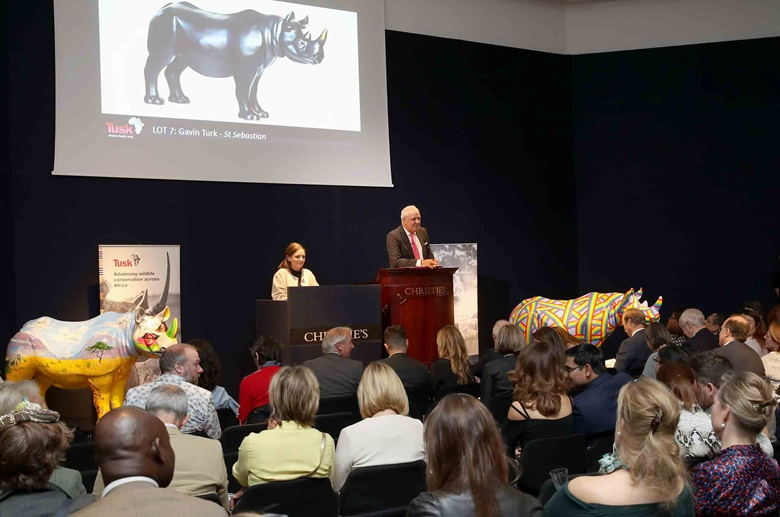 Gavin Turk's Tusk rhino comes under the hammer