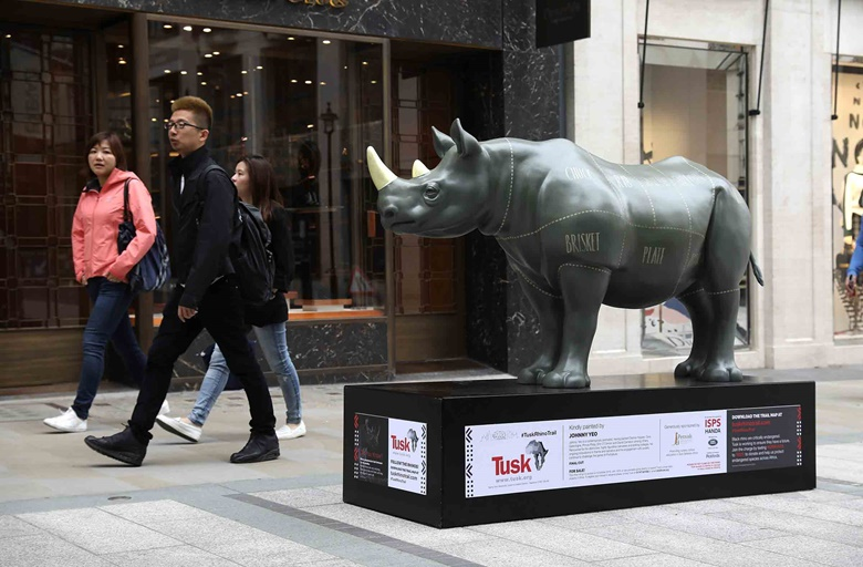 Jonathan Yeo's rhino for Tusk. Photo Tim WhitbyGetty