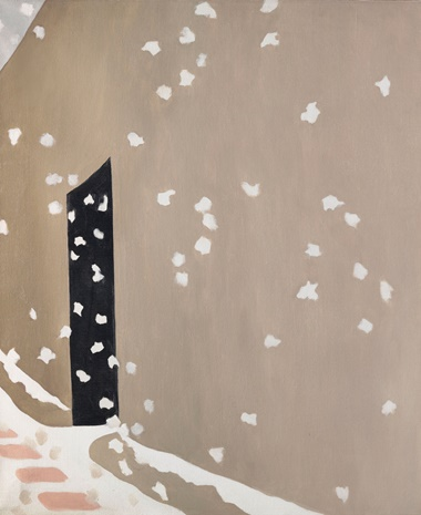 Georgia OKeeffe (1887-1986), Black Door with Snow, painted in 1953-1955. 36 x 30 in (91.4 x 76.2 cm). Sold for $3,072,500 on 20 November 2018 at Christie's in New York © 2018 Georgia OKeeffe Museum  Artists Rights Society (ARS), New York