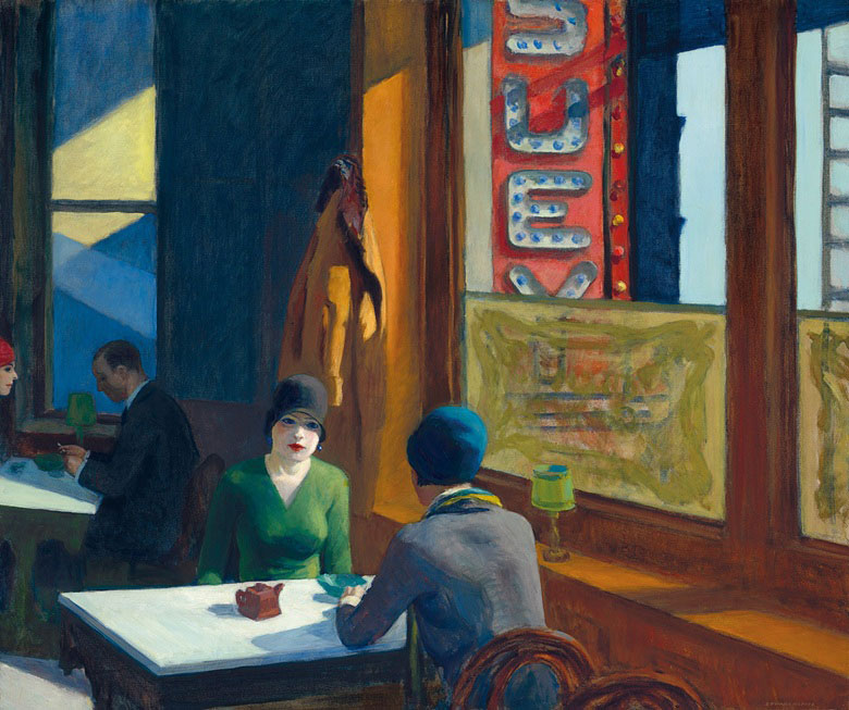 Edward Hopper (1882-1967), Chop Suey, 1929. Oil on canvas, 32 x 38 in (81.3 x 96.5 cm). Estimate $70-100 million. Offered on 13 November in An American Place The Barney A. Ebsworth Collection Evening Sale at Christie's in New York